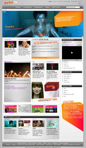 Le nouveau site web arte.tv